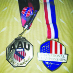 Las medallas ganadas, tanto en Florida como California, respectivamente.