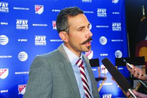 Colorado Rapids Head Coach, Pablo Mastroeni (fotos de Mary A. Flores).