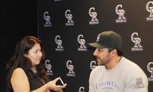 Vinny Castilla en entrevista para La Prensa de Colorado.
