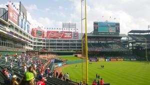 Estadio de los Rangers de Texas.
