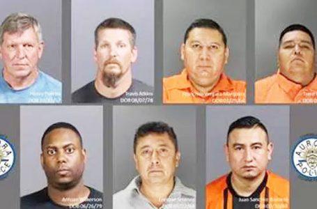 7 hombres detenidos por prostitución infantil