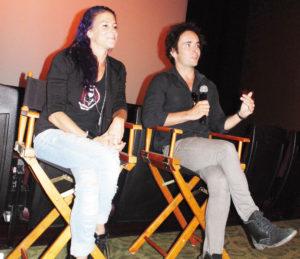 """Giulia Piolanti y Daniel Crispin, durante la presentación del documental """"Toruk, El primer vuelo"""".  (Foto: LPDC/Germán González)."""