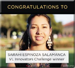 """Sarahí, una joven con poder y compromiso; una voz de los """"Soñadores""""."""