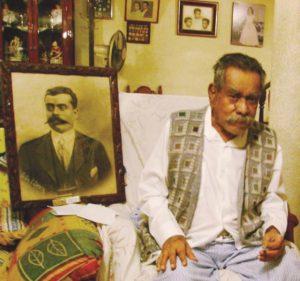 Don Mateo Zapata, padre de doña Imelda Zapata, madre de nuestro entrevistado. (Foto cortesía Edgar R. Zapata)