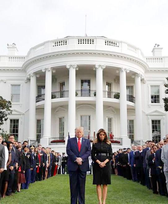 Presidente Trump y la Primera Dama,  dirigen Servicio conmemorativo 9-11