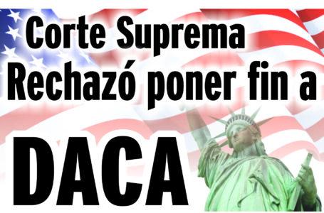 Rechazó el intento de poner fin a DACA