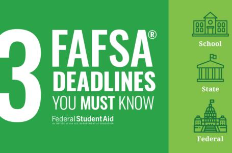 Hablando de FAFSA y la fecha límite para aplicar