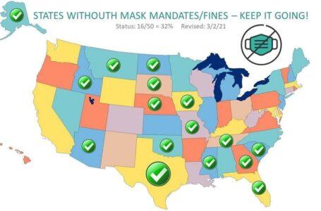 16 estados abren sus economías y eliminan el uso de cubre bocas