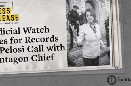 Demanda por registros de llamada de Pelosi con el jefe del Pentágono