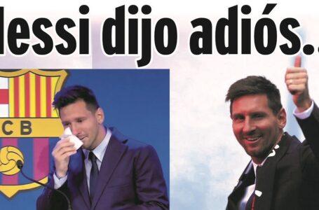 Messi dijo adiós…