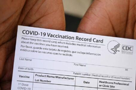 Un médico encuentra tarjetas de vacunación que se venden en línea